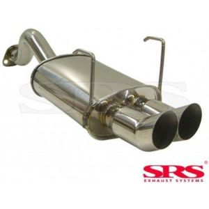 SRS Rear Muffler DTM Conical Flange 61mm Stainless Steel Honda Civic-41306