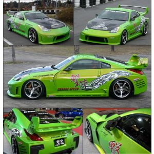 Chargespeed Wide body Kit Super GT Style Polyester Nissan 350Z-34665