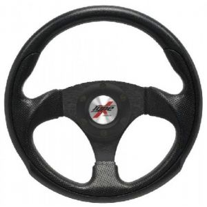 SK-Import Steering Wheel Black 295mm Perforated Leather Flat-38069