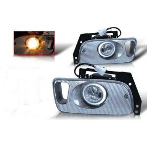 SK-Import Fog Light OEM Style Chrome Housing Clear Lens Honda Civic-39469