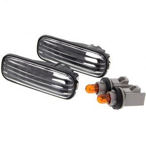 Sonar Turn Signal Lights Long Black Housing Clear Lens Honda Civic,Accord,Integra-41053