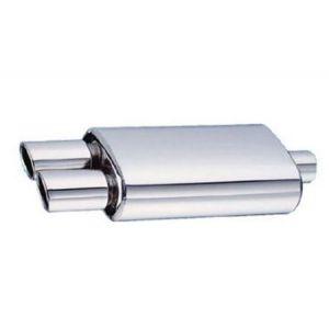 SK-Import Rear Universal Muffler SL-DD 63.5mm Stainless Steel-42481