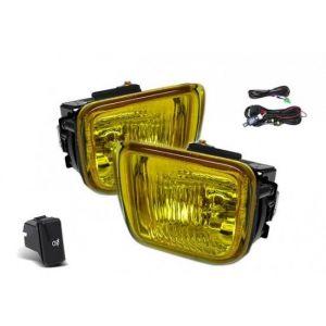 SK-Import Fog Light JDM Style Chrome Housing Yellow Lens Honda Civic Pre Facelift-45230