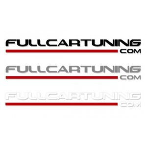 Fullcartuning Sticker With Red Stripe 30cm-46936