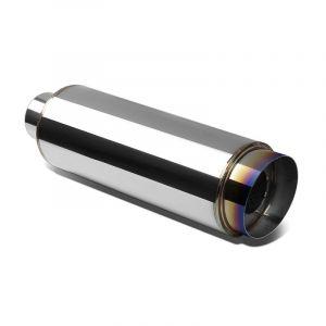 SK-Import Universal Muffler 114mm Stainless Steel-67894