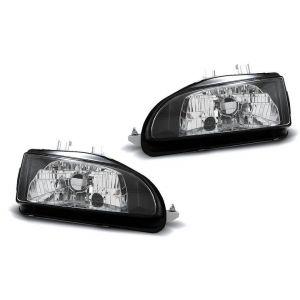 DEPO Headlights Manual Adjustable Black Housing Honda Civic-38716