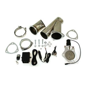 SK-Import Exhaust Control Valve Cut Out Kit Electric Adjustable Stainless Steel-57560-2.5