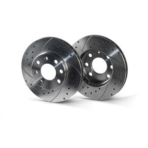 Rotinger Rear Brake Discs Sport Slotted + Drilled 260mm Honda Civic-58715