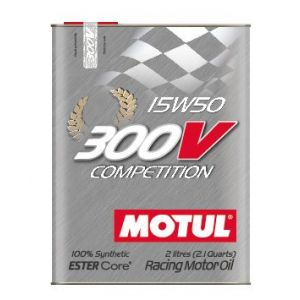 Motul Engine Oil 300V Competition 2 Liter 15W-50 100 Synthetic-58895