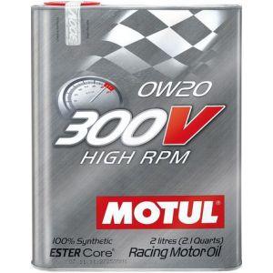 Motul Engine Oil 300V High RPM 2 Liter 0W-20 100 Synthetic-58896