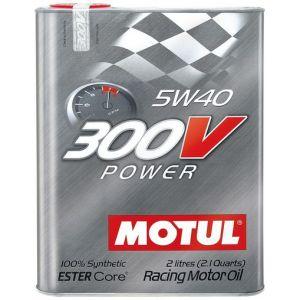 Motul Engine Oil 300V Power 2 Liter 5W-40 100 Synthetic-58898
