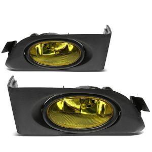 SK-Import Yellow Chrome Housing Yellow Lens Honda Civic Pre Facelift-60124