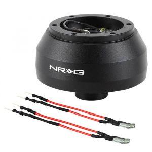 NRG Innovations Steering Wheel Hub Black Aluminum Subaru,Toyota Pre Facelift-61443