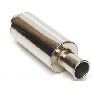 M2 Motorsport Universal Muffler Spoon Style Polished 63.5mm Stainless Steel-64668