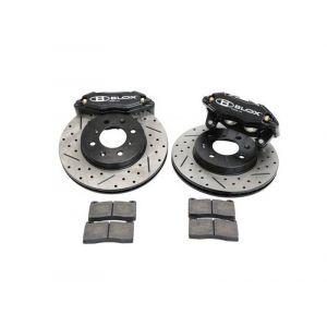 Blox Racing Front Big Brake Kits Tuner Series Black 262mm Honda Civic,CRX,Del Sol-66071