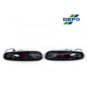 DEPO Front Indicator Lights Smoke Chrome Housing Smoke Lens Mazda MX-5-67891