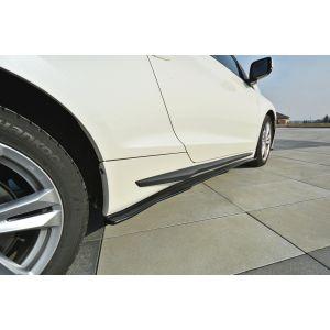 Maxton Side Skirts Black ABS Plastic Honda CR-Z-77040