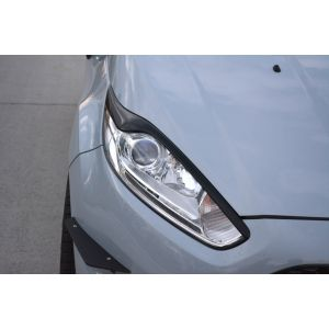 Maxton Front Eye Lids V2 Black ABS Plastic Ford Fiesta Facelift-76976