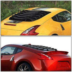 SK-Import Rear Window Louvers Black ABS Plastic Nissan 370Z-78799