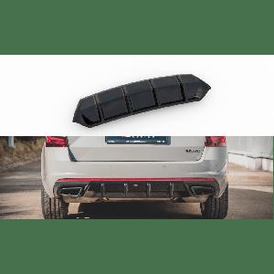 Maxton Rear Diffuser V1 Black ABS Plastic Skoda Octavia-77194