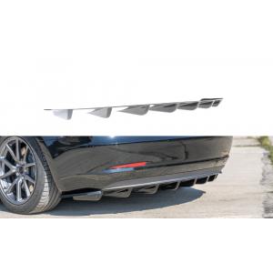 Maxton Rear Diffuser Black ABS Plastic Tesla Model 3-77199