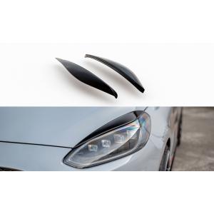 Maxton Front Eye Lids Black ABS Plastic Ford Fiesta-76986