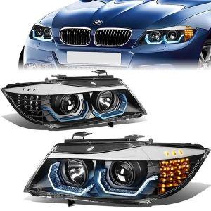 SK-Import Headlight LED Black Housing Clear Lens BMW 3-serie-79437