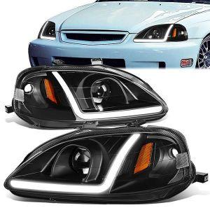 SK-Import Headlight LED Black Housing Honda Civic Facelift-80069