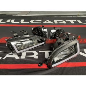 SK-Import Headlights LED Black Honda Civic-S237