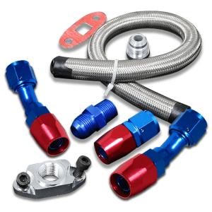 SK-Import Turbo Line Return Kit 10AN Stainless Steel-80084