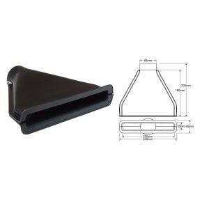 QSP Air Duct Black 63.5mm-53346