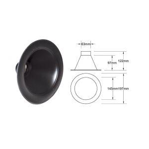 QSP Air Duct Black 63.5mm-53351