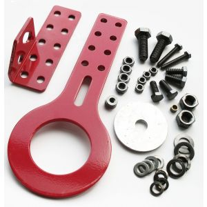 QSP Front Tow Hook Long Red Steel-39929