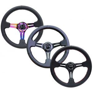 NRG Innovations Steering Wheel 350mm 76mm Leather-77736