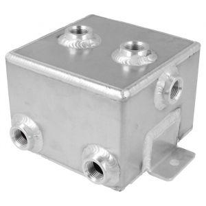 QSP Fuel Catch Tank Silver Aluminum-80126