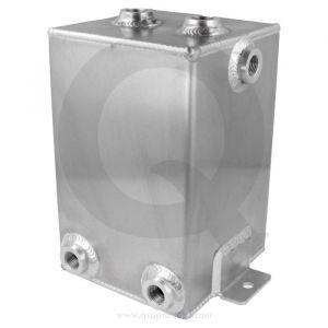 QSP Fuel Catch Tank Silver 3 Liter Aluminum-80127