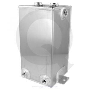 QSP Fuel Catch Tank Silver 4 Liter Aluminum-80128
