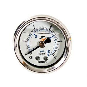 D1 Spec Fuel Pressure Gauge White-46923