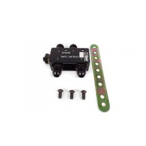 D1 Spec Oil Thermostat Adapter Black Aluminium-61475