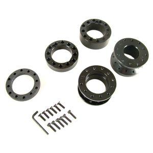 D1 Spec Steering Hub Extender Black Aluminium-42956