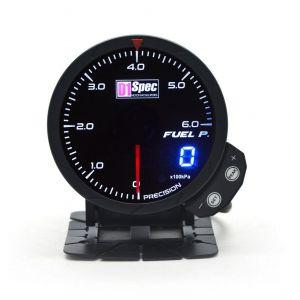 D1 Spec Gauge Version 3 Black 60mm Fuel Pressure-62406