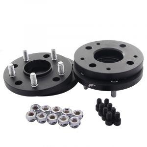 JR-Wheels Wheel Spacers JRWA4 Black Aluminium-64413