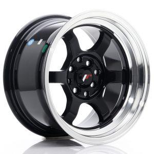 JR-Wheels JR12 Wheels 15 Inch 8.5J ET13 4x100,4x114.3 Gloss Black-55702-2