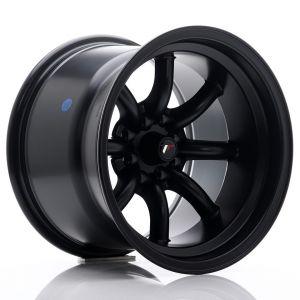 JR-Wheels JR19 Wheels 15 Inch 10.5J ET-32 4x100,4x114.3 Flat Black-62875