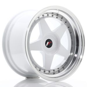 JR-Wheels JR6 Wheels 18 Inch 10.5J ET0-25 Custom PCD White-61163