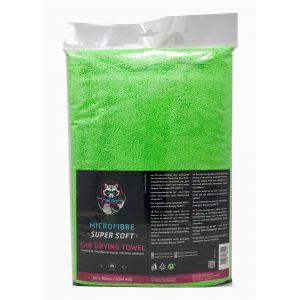 Racoon Car Drying Towel Green Microfiber-77451