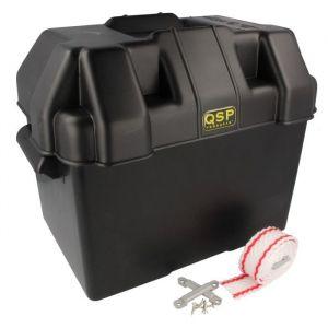 QSP Battery Box Black Polypropylène-80118