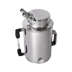 QSP Fuel Catch Tank Silver 1 Liter Aluminum-80129