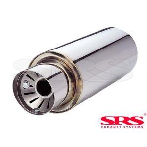 SRS Rear Universal Muffler G55 61mm Stainless Steel-50111