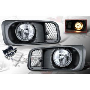 SK-Import Fog Light OEM Style Chrome Housing Clear Lens Honda Civic Facelift-39468